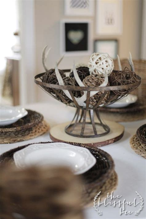 Using Antlers for a Winter centerpiece The Blissful Bee