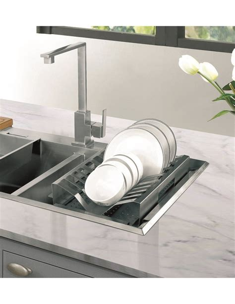 stainless steel draining board sink accessory  www