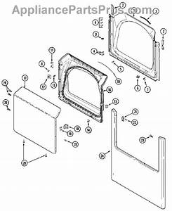 Parts For Maytag Mde7400ayw  Door Parts