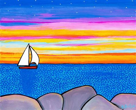 Sailboats Nova Scotia by Sunset Sailboat Shelagh Duffett Nova Scotia Art