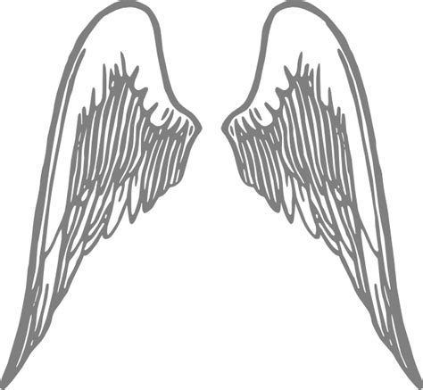 angel wings grey clip art  clkercom vector clip art  royalty  public domain