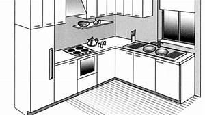 Plan De Cuisine Gratuit : agencement cuisine plan cuisine gratuit pour s 39 inspirer ~ Melissatoandfro.com Idées de Décoration