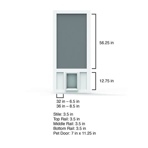 screen tight white vinyl frame hinged pet door screen door