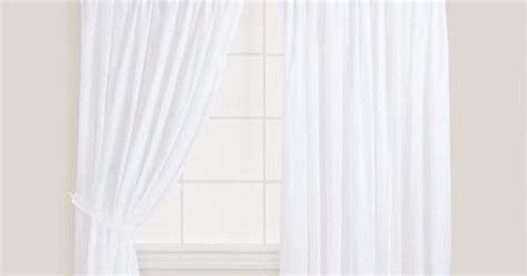 white smocked top cotton curtains set of 2 white smock