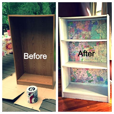 Particle Board Bookcase by Particle Board Bookcase Makeover Map Backed Bookshelf