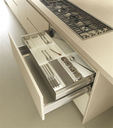 Kitchen Cupboard Drawers by Fineline Drawer Inserts Stainless Steel And White