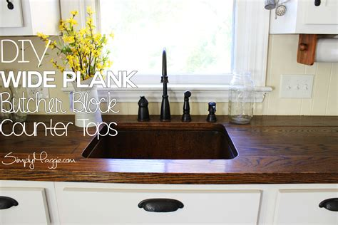 Kitchen Island With Chopping Block Top - diy wide plank butcher block counter tops simplymaggie com