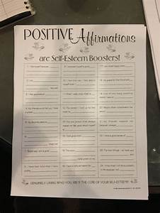 Positive Affirmations Worksheet Use A Little Wooden Box