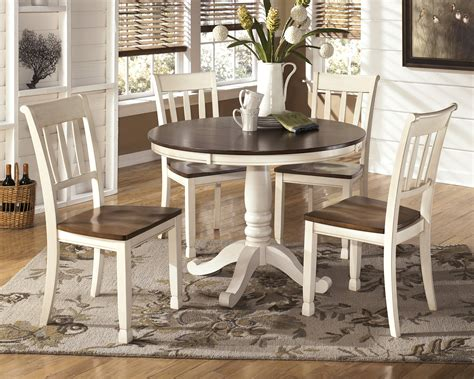 whitesburg 5 pc cottage style two tone dining table