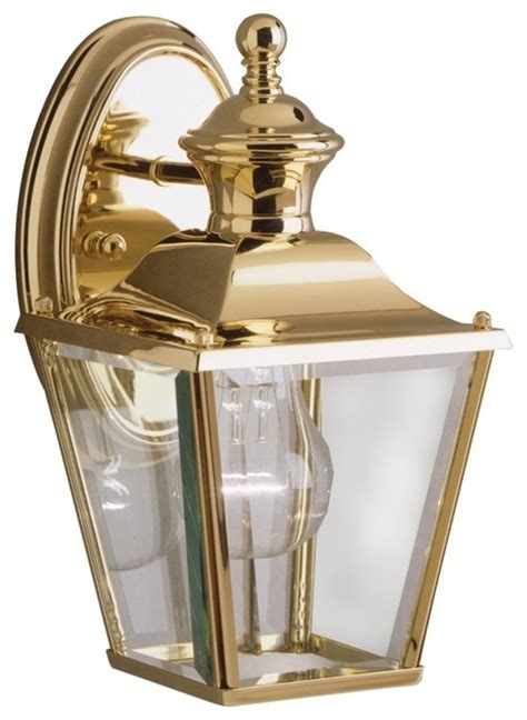 kichler solid brass carriage 10 quot high outdoor wall light