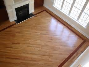 Wood Floor Inlay by Hardwood With Borders Living Room Charlotte By