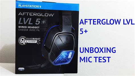 headset ps4 test afterglow lvl 5 wired headset ps4 unboxing mic test