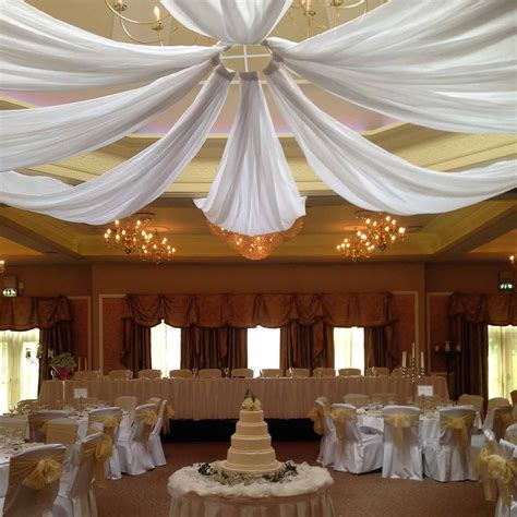 Celing Drapes - white chiffon ceiling draping ceiling drapes for sale