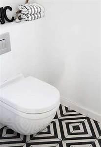 Carreaux De Ciment Noir Et Blanc : d co wc en carreaux de ciment noir et blanc design ~ Dailycaller-alerts.com Idées de Décoration