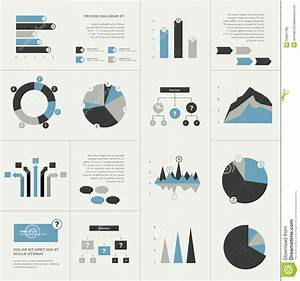 Set Of Business Flat Design Elements  Graphs  Charts  Flow