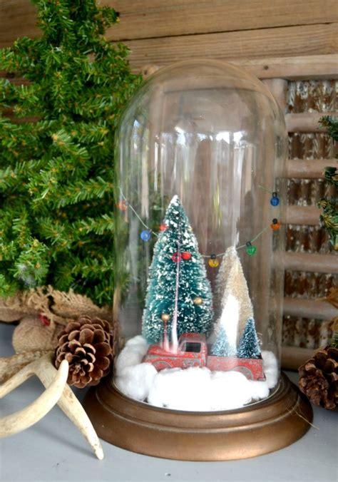christmas cloche      thrift store clock