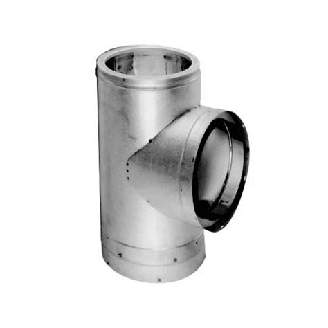 stainless steel wall stove pipe duravent 7dt stss stainless steel 7 quot inner diameter 9390