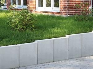 L Steine Streichen : mauerscheibe baul nge 99 cm oberfl che sichtbeton farbe steingrau garten pinterest l ~ Orissabook.com Haus und Dekorationen