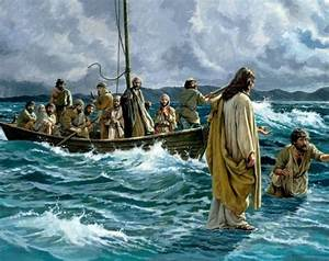 Jesus Walking On Water 8x10 Glossy Photo Print eBay