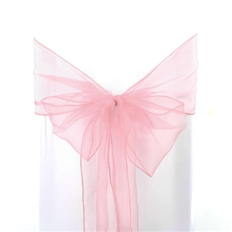 1 10 50pcs organza chair cover sashes bow wedding party