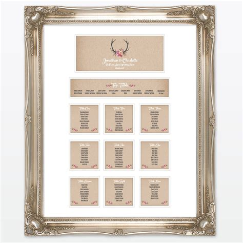 country rustic table plan love invited