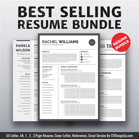 best for 2019 best selling ms office word resume cv bundle the