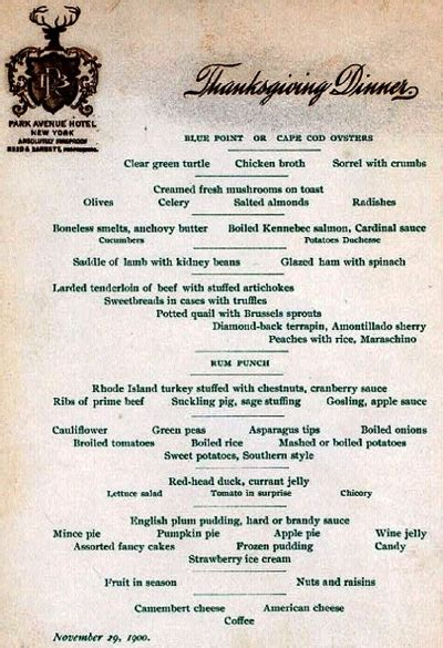 italian thanksgiving dinner menu president william mckinley s 1900 thanksgiving proclamation lochgarry s blog