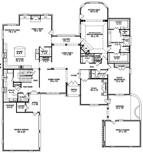 654276 4 bedroom 4 5 bath house plan house plans