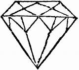 Coloring Diamond Pages Ring Clipart Diamonds Printable sketch template