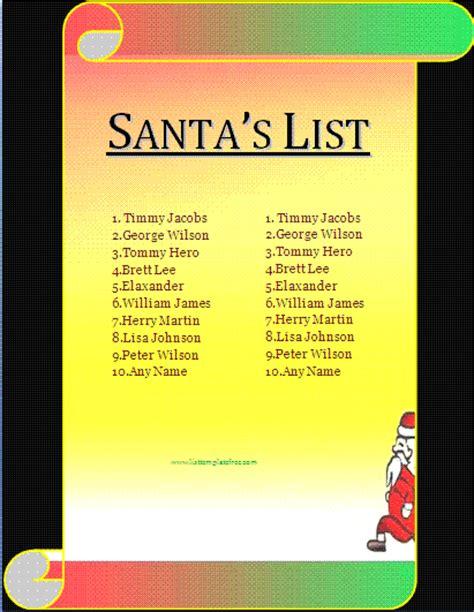 santa list template search results for santas list templates calendar 2015