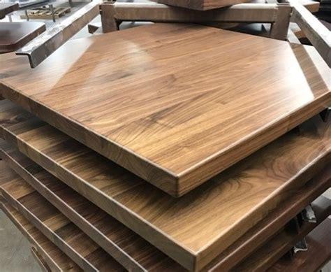 walnut plank wood restaurant tabletop species
