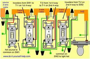 Wiring Diagram  Multiple 4 Way Switches  With Images