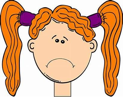 Sad Face Clipart Child Orange Head Hair
