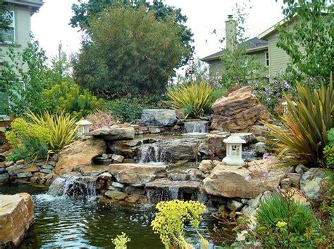 landscape pond design 39 best new japanese waterfall garden images on pinterest gardening outdoor gardens and
