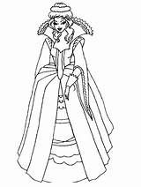 Queen Medieval Drawing Coloring Pages Getdrawings sketch template