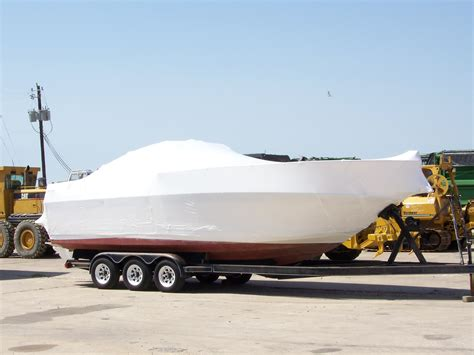 Boat Transport Wrap by Boat Shrink Wrapping Ultimate Boat Transport