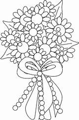Coloring Bouquet Flower sketch template