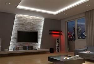 Fernseher Wand Gestalten : wohnzimmerwand ideen ~ Eleganceandgraceweddings.com Haus und Dekorationen
