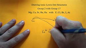 Drawing Ionic Lewis Dot Structures  Group 2 And 17