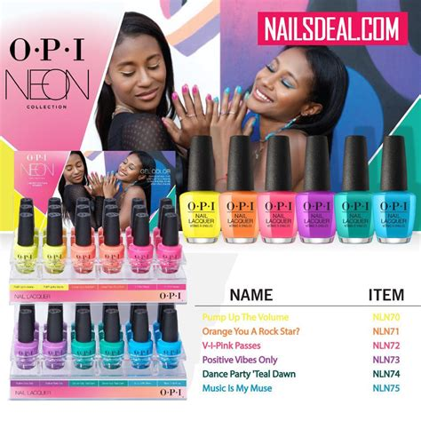 opi nail lacquer neon summer collection   colors