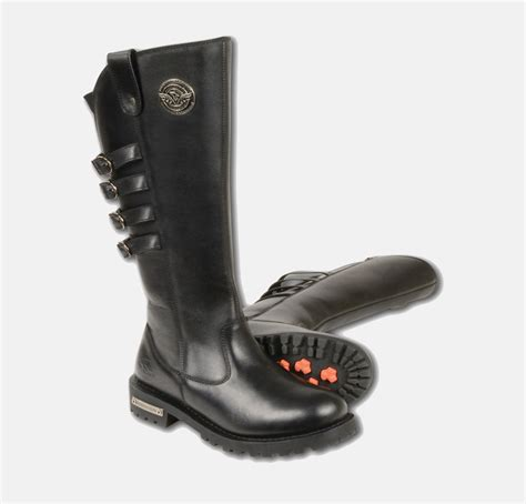 boots to ride motorcycle women s motorcycle pure leather boots 15 inch high rise riding