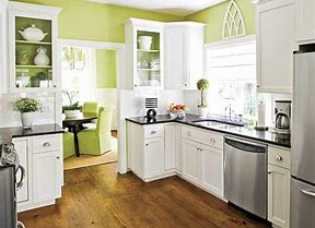 Image result for paint kitchen cabinets white