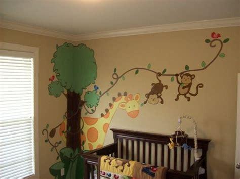 Babyzimmer Wandgestaltung Junge Grün by Tierwelt Im Kinderzimmer Wandgestaltung Ideen Murs