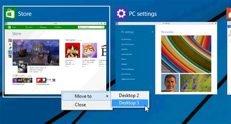 bureaux virtuels windows 7 bureaux virtuels windows 10 déplacer les applications d
