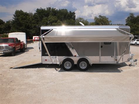 awnings  enclosed cargo trailers
