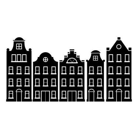 Kleurplaat Huisjes by Amsterdamse Huisjes Sticker Raamsticker Muursticker