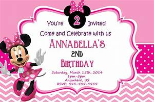 Minnie Mouse Birthday Invitations Templates Ideas — All ...
