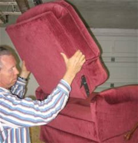 how to remove back of recliner sofa taking the back off of a lazyboy recliner upholstery