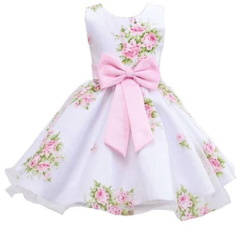 Retail New Style Summer Baby Girl Print Flower Girl Dress