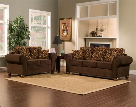 2 piece sofa set 2 piece brown sofa set with flowery gold pattern